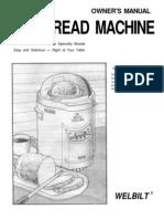 Welbilt ABM 100 Bread Machine Manual