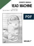 welbilt bread machine recipe book