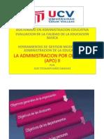 Admin is Trac Ion Por Objetivos (Apo) II