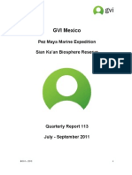 GVI Mexico Quarterly report Pez Maya July-September 2011