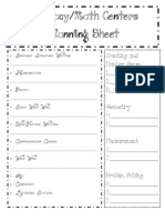 Literacy Centers Planning