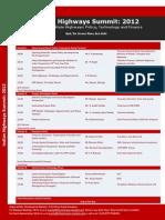 Dr Punit Sethi at Indian Highways Summit 2012_ Event Agenda _17