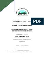 English Proficiency Test_Upper Secondary Classes