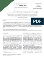 Water Desorption Thermodynamic Properties of Pineapple