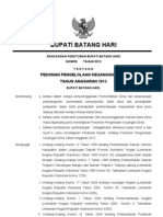 Draft Perbub Pedoman Pengelolaan Keuangan Desa 2012