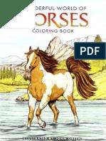 Coloring Book Horses