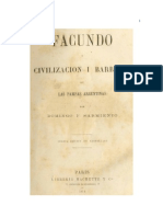 Facundo. Civilización y Barbarie en las Pampas Argentinas - Domingo F. Sarmiento