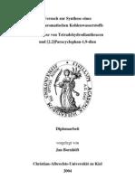 Jan Bornhöft- Versuch zur Synthese eines möbiusaromatischen Kohlenwasserstoffs Metathese von Tetradehydrodianthracen und [2.2]Paracyclophan-1,9-dien