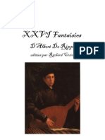 Twenty-Six Fantasias for Lute by Albert de Rippe