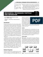 Mechanical Techniques - Particle Size Separation