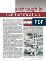 Breakthrough in Rice Fortification