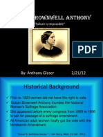 Susan Brownwell Anthony Powerpoint