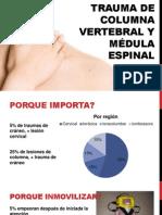 Trauma de columna vertebral y médula espinal