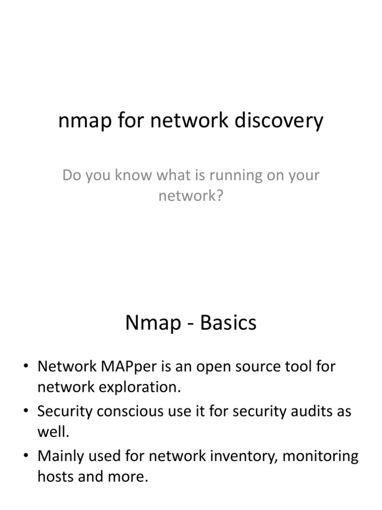 Nmap for Network Discovery | Transmission Control Protocol | Port