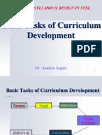 Basic Tasks of Curriculum Development  * Dr. Azadeh Asgari