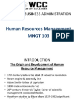 A Human Resource Management