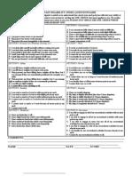 Neck Pain Disability Index Questionnaire