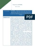 Projet ANR Systerra Interra 2010-2014-1