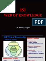 ISI Web of Knowledge * Dr. Azadeh Asgari