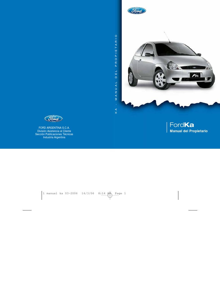 manual ford ka parte 1 rh es scribd com manual del ford ka manual de ford taurus 2003