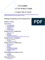 Planning, Organizing, And Presenting Essays - UVic