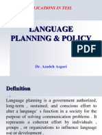 Language Planning and Policy * Dr. Azadeh Asgari