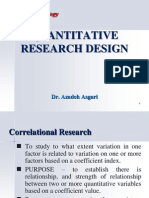 Quantitative Research Design * Dr. Azadeh Asgari