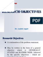 Research Objectives, Questions &  Hypothesis * Dr. Azadeh Asgari