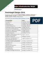 Feestdagen van Belgie – Ontdek de exacte datums