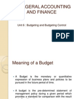 Manageral Accounting and Finance