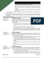 Combination Resume Sample