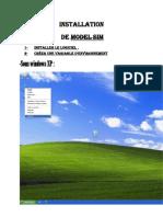 Installation Model Sim