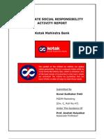 Csr Activity Report