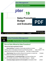 Chapter 19 Sales Promotions Budget and Evaluation-Sales and Distribution Management