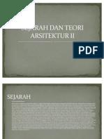 Sejarah Dan Teori Arsitektur II