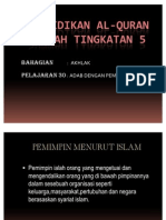 Pendidikan Al-quran Sunnah Tingkatan 5
