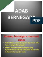 ADAB BERNEGARA