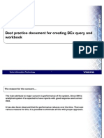 Best Practice Document for Creating BEx Query and Workbook Version 1[1].0