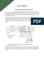 Microprocessor 8085 (Unit I,II)