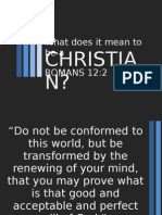 What Does It Mean to Be a Christian