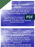THE SPECIAL EDUCATOR'S PRAYER