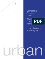 Competitive European cities. Where do the core cities stand?