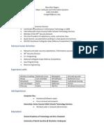 Internship Resume 2012