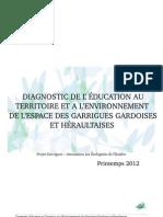 Diagnostic Education Territoire Environnement Espace Garrigues Gard Herault