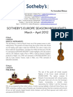 Season Highlights Mar-Apr 2012