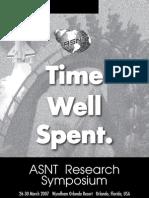 ASNT Spring 2007 Program