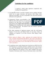 Advt de Civil Instructions to the Candidates