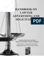 Handbook on Lawyer Solicitation and Advertising