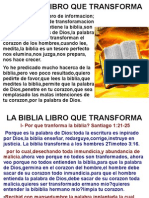 La Biblia Libro Que Transform A