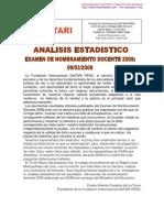 Analisis Estadistico Nombramiento 2008